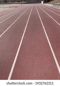 Running track in local stadium