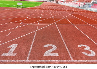Running track number one two and three