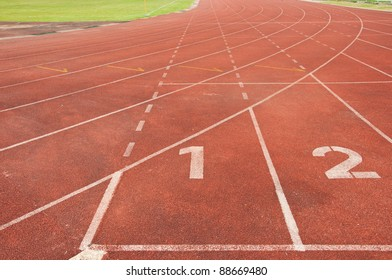 Running track number one two