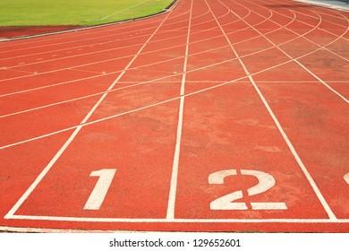Running track number in stadium