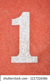 Running Track with numbers 1