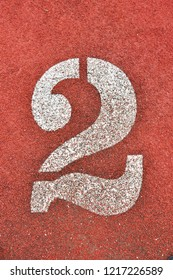 Running Track with numbers 2