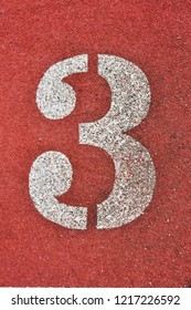 Running Track with numbers 3