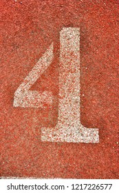 Running Track with numbers 4