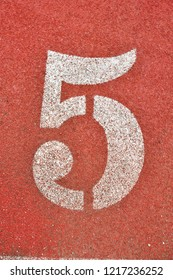 Running Track with numbers 5