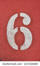 Running Track with numbers 6