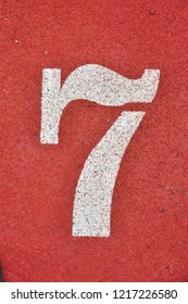 Running Track with numbers 7