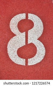Running Track with numbers 8