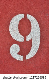 Running Track with numbers 9