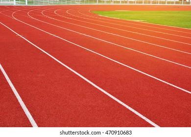 Running track on stadium