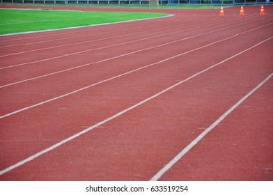 Running track on the stadium, Running track