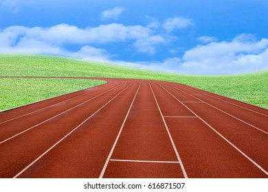 Running track ,sport background