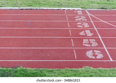 Running track at sport club