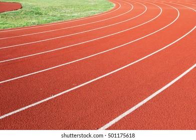 running track in sport field
