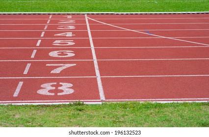 running track of a sports stadium