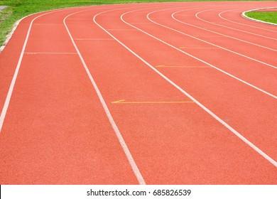 Running track in the stadium.