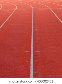 Running Track in Stadium - one, two, three