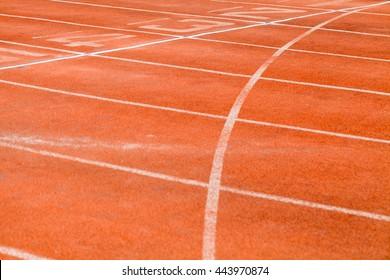 Running track in stadium at Thailand