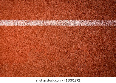 Running track texture background. top view