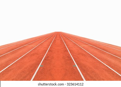Running track ,  white background