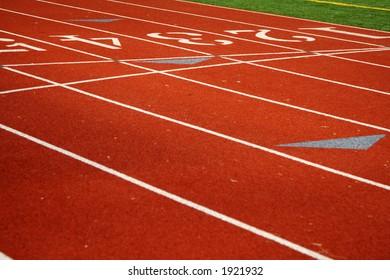 Running tracks on a sport field