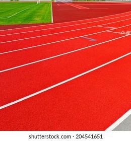Running Tracks on the Stadium in  Switzerland