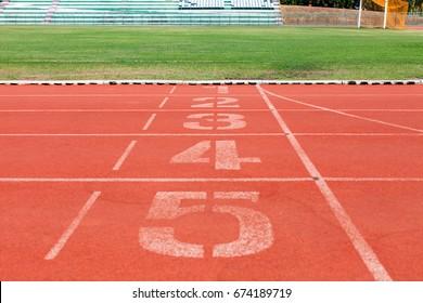 Running tracks in stadium