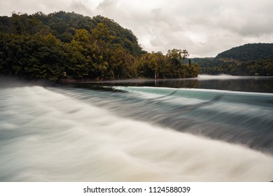 Running water near Norris Dam in East Tennessee