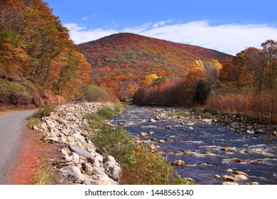 Running water in the West Virginia Applachian mountains