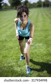 Running woman, Training and healthy lifestyle