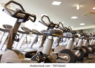 runnning machine in sports gym