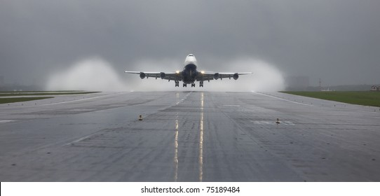 runway, airplane, aviation, airline, plane, aircraft, airport, boeing, 747