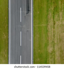 Runway approach at a small rural airport