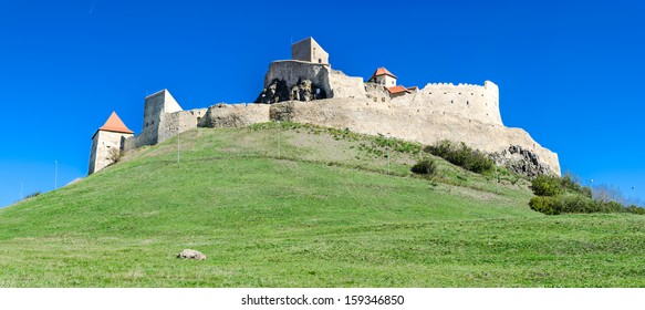 Rupea fortress is in Brasov county, Romania. Medieval saxon landmark of Transylvania.