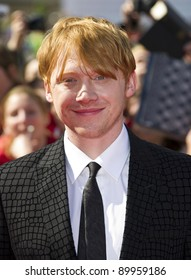 Rupert Grint arriving for the World Premiere of 'Harry Potter & the Deathly Hallows pt2', Trafalgar Square, London. 07/07/2011  Picture by: James McCauley / Featureflash