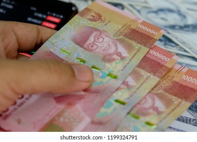 rupiah indonesia currency and us dollar business financial moneter 2018