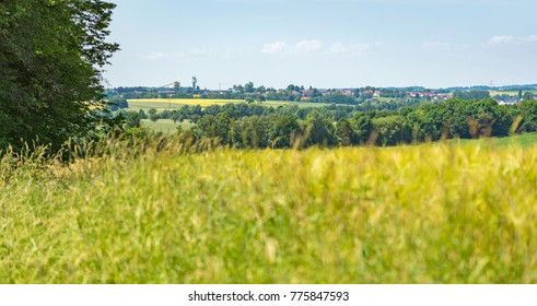 rural agricultural scenery in Hohenlohe, a area in Southern Germany