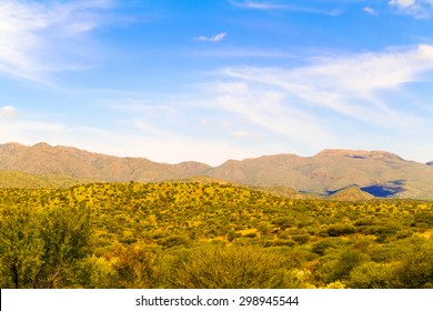 Rural area landscape near Windhoek in Namibia.