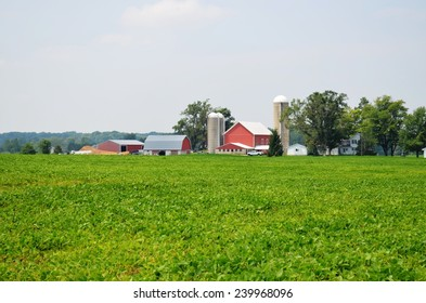 Rural Barn and surrounding countryside and farmland
