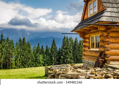 Rural cottage in the mountains