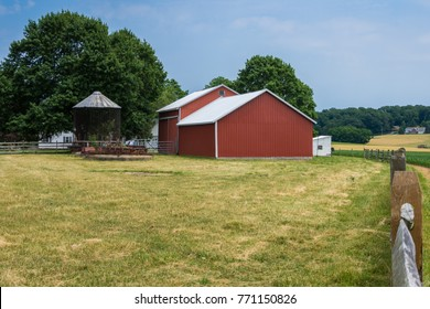 Rural Country York County Pennsylvania Farmland, on a Summer Day