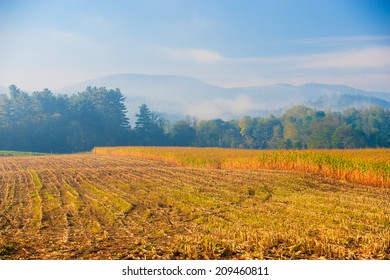 Rural countryside in the autumn, Stowe Vermont, USA