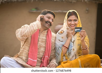 Rural couple calling credit card customer support