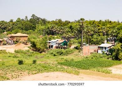 Rural dusty roads of Cambodia