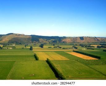 Rural Fields, Otago, New Zealand