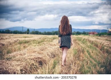 rural girl in field