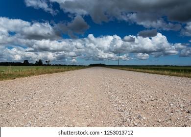 Rural gravel road.