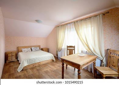 Rural Hostel Room with Wooden Furniture