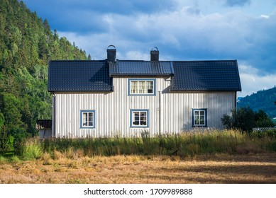 Rural House near of the Notodden, Telemark, Norway, Europe.