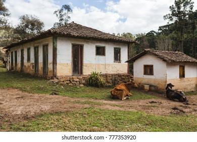 rural houses of Brazil interior of minas gerais